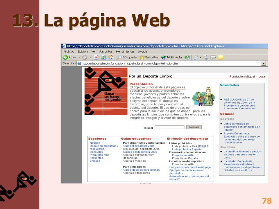 78 13. La página Web