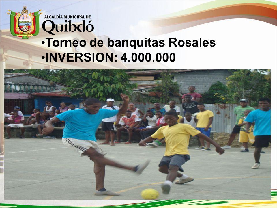Torneo de Baloncesto Amistades Alcaldía de Quibdó. INVERSION:3.000.000