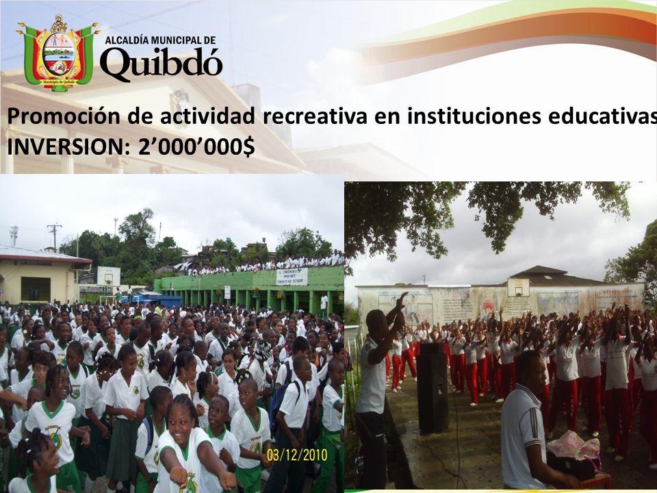 1 y 2 Maratón Lúdico- Recreativo por un Quibdó Dinámico y Saludable INVERSION:23.000.000