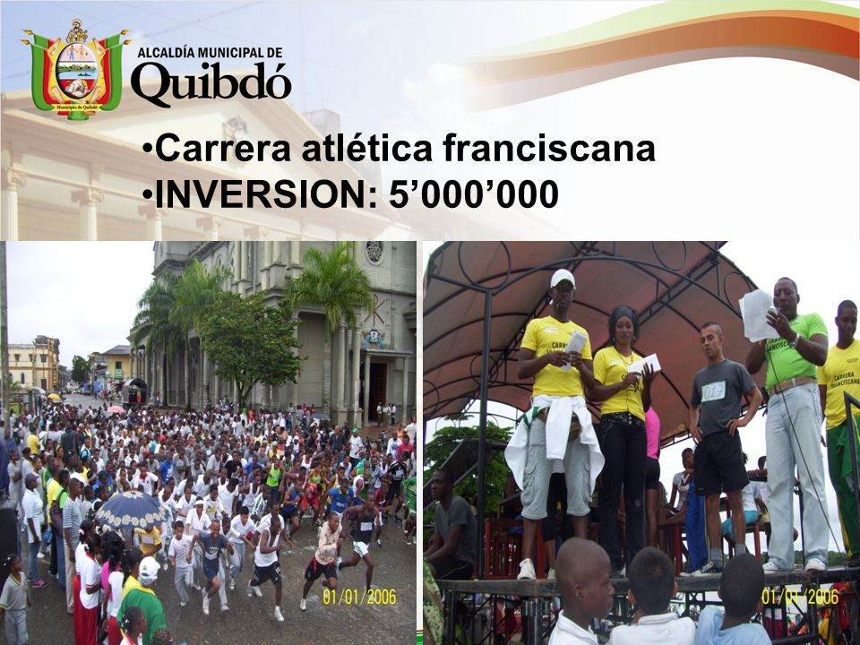 Carrera atlética franciscana INVERSION: 5000000
