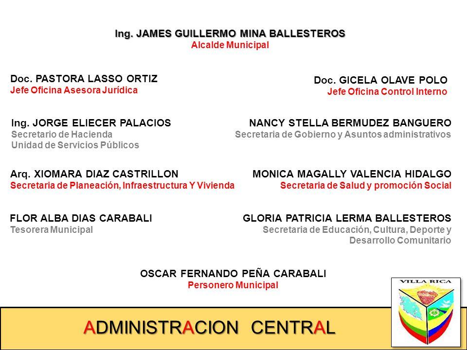 SECRETARÍA DE HACIENDA + Unidad de Servicios Públicos Secretario: Ing. JORGE ELIECER PALACIOS