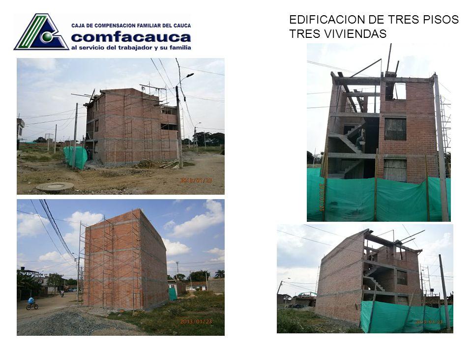 EDIFICACION DE TRES PISOS TRES VIVIENDAS