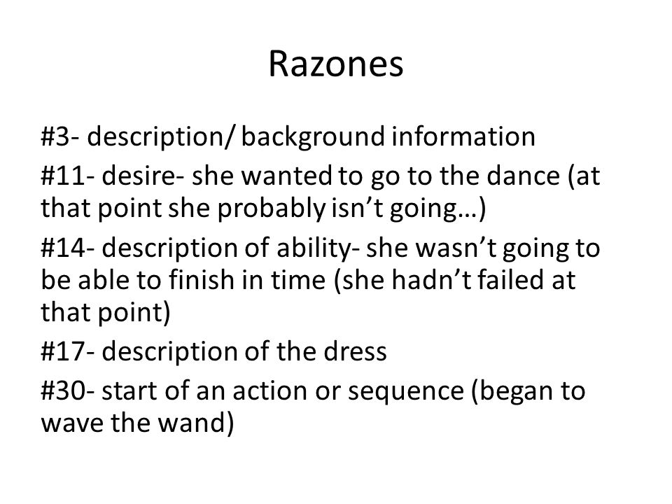 Razones #38- description- at that time she didnt know he was the princeshe did NOT FIND OUT then.