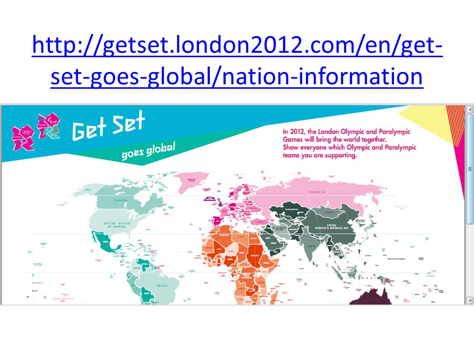 http://getset.london2012.com/en/get- set-goes-global/nation-information