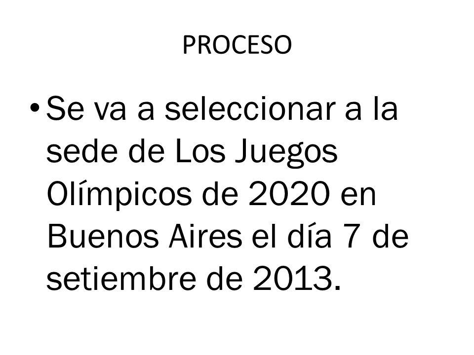 UNA CAMPAÑA PARA SER LA SEDE DE LOS JUEGOS OLÍMPICOS DE 2020 PROYECTO OLÍMPICO