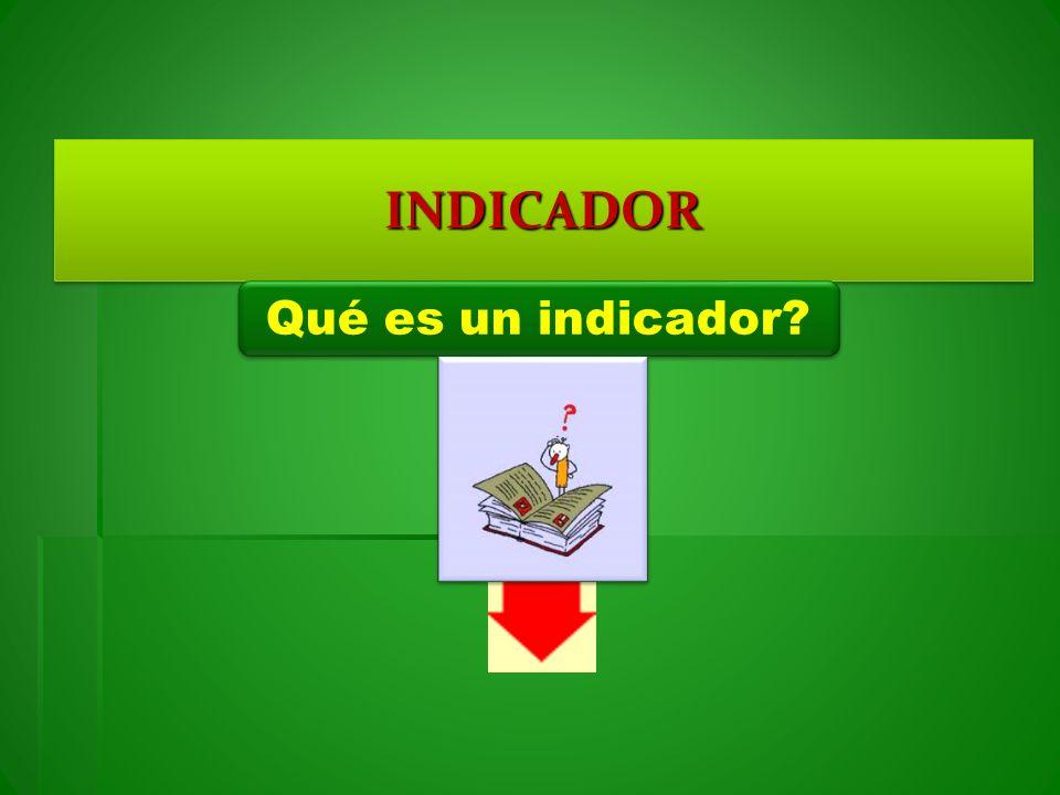 INDICADORINDICADOR Qué es un indicador?