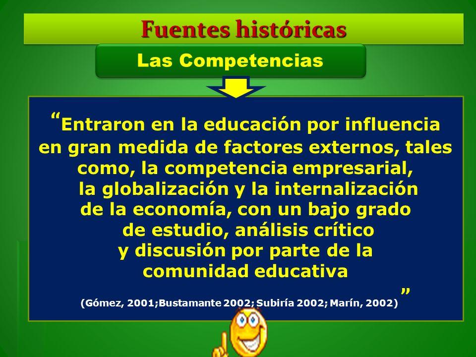 Entraron en la educación por influencia en gran medida de factores externos, tales como, la competencia empresarial, la globalización y la internaliza
