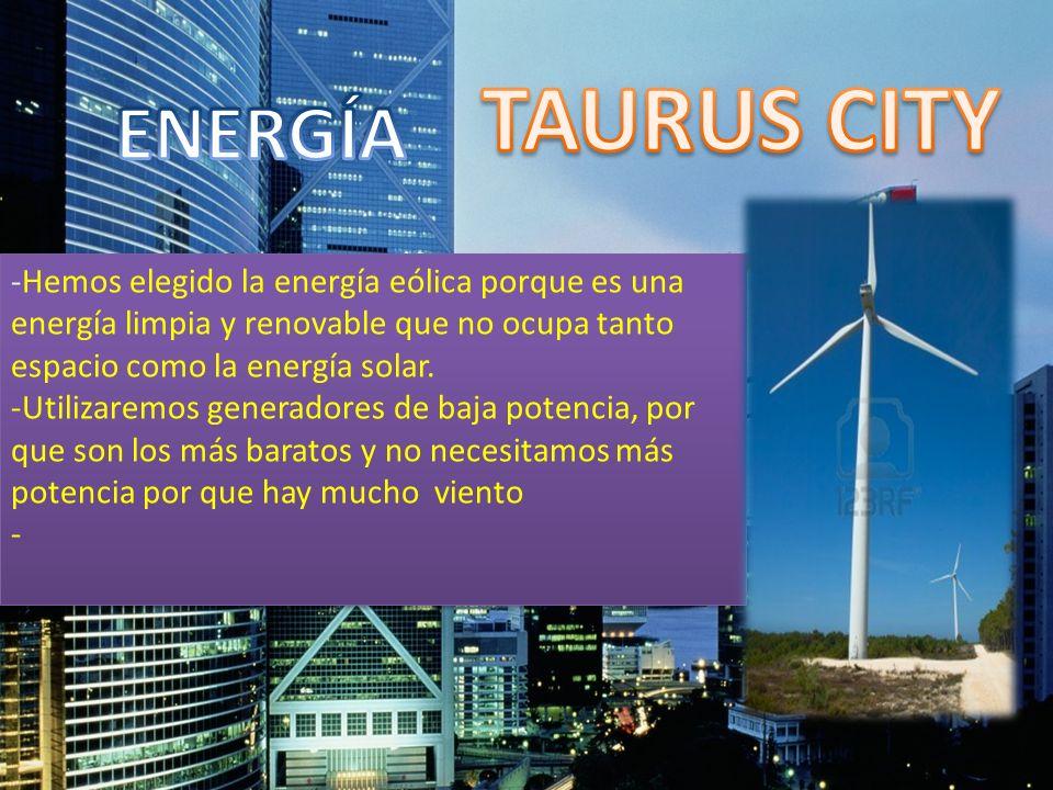 -Hemos elegido la energía eólica porque es una energía limpia y renovable que no ocupa tanto espacio como la energía solar. -Utilizaremos generadores