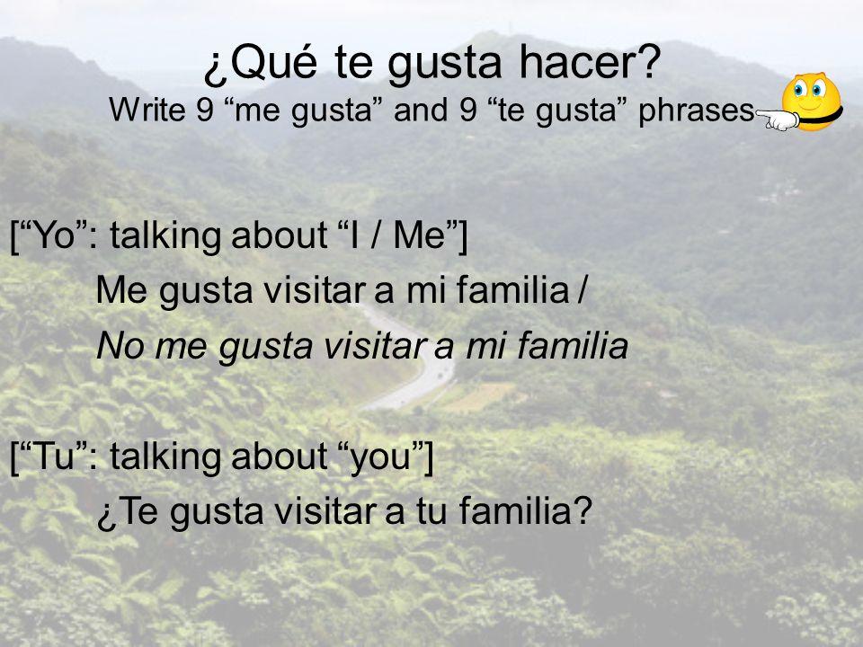 Entrevistas A - Pregunta a 9 personas ¿Te gusta …..