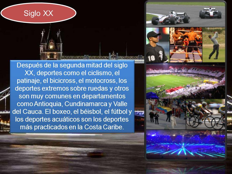 Siglo XX Después de la segunda mitad del siglo XX, deportes como el ciclismo, el patinaje, el bicicross, el motocross, los deportes extremos sobre rue