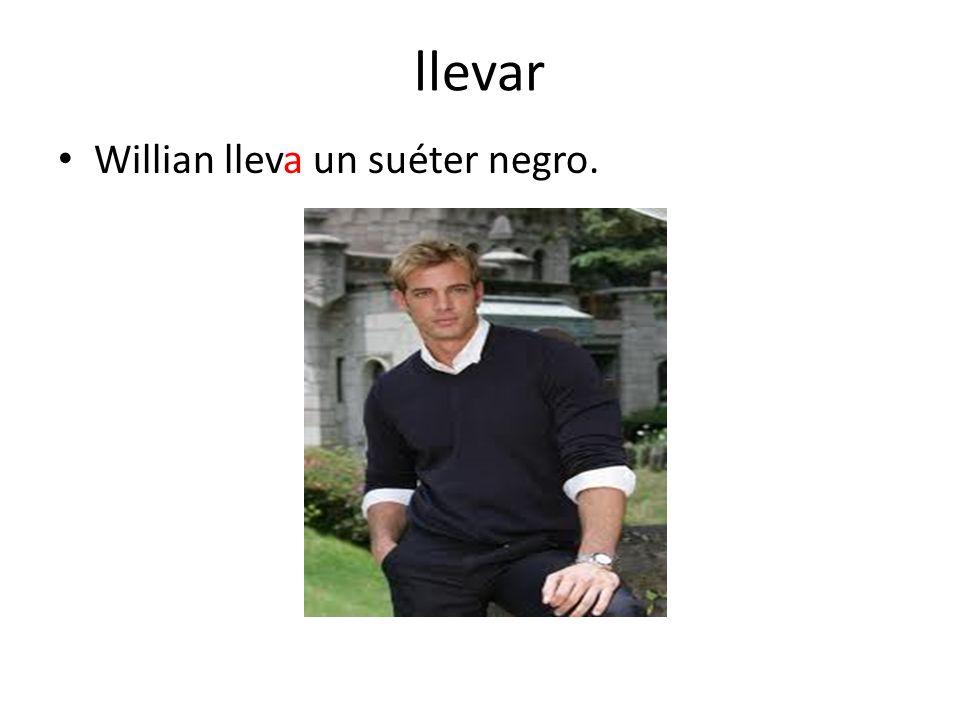 llevar Willian lleva un suéter negro.