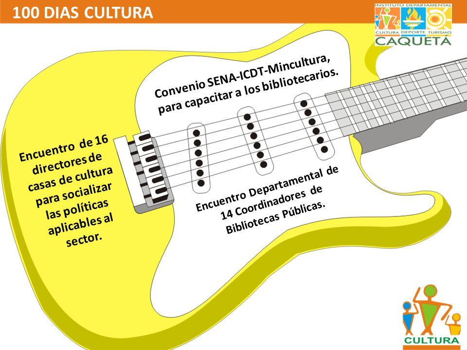 100 DIAS CULTURA Concertación del Encuentro Nacional de Narración Oral y Encuentro de Escritores.