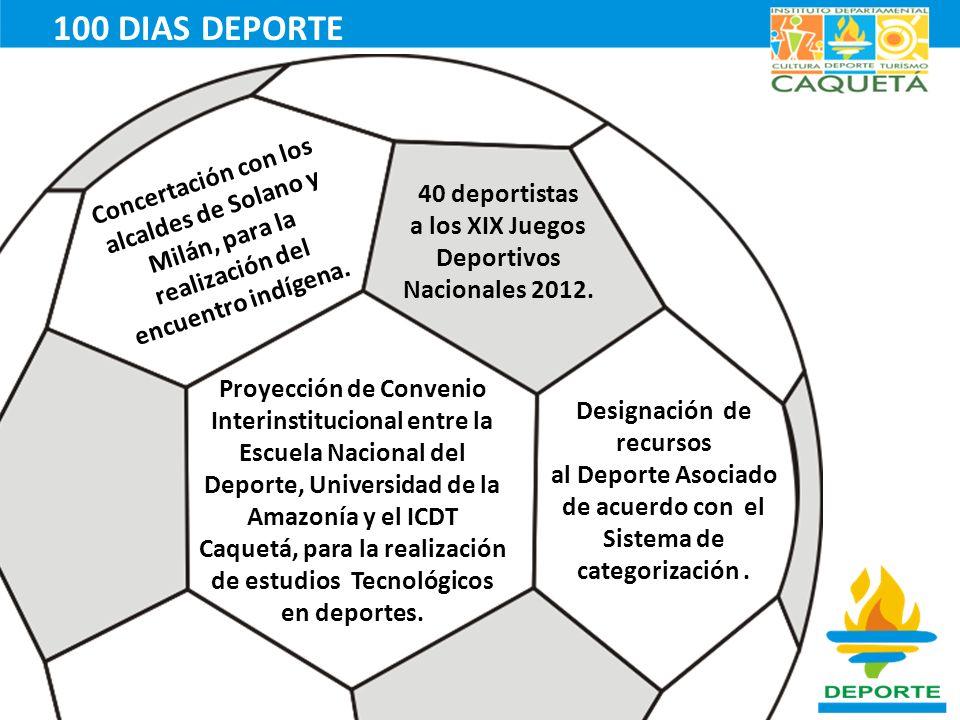 Concertación con los alcaldes de Solano y Milán, para la realización del encuentro indígena. 40 deportistas a los XIX Juegos Deportivos Nacionales 201
