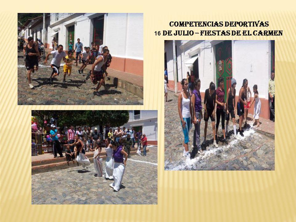 COMPETENCIAS DEPORTIVAS 16 DE JULIO – FIESTAS DE EL CARMEN