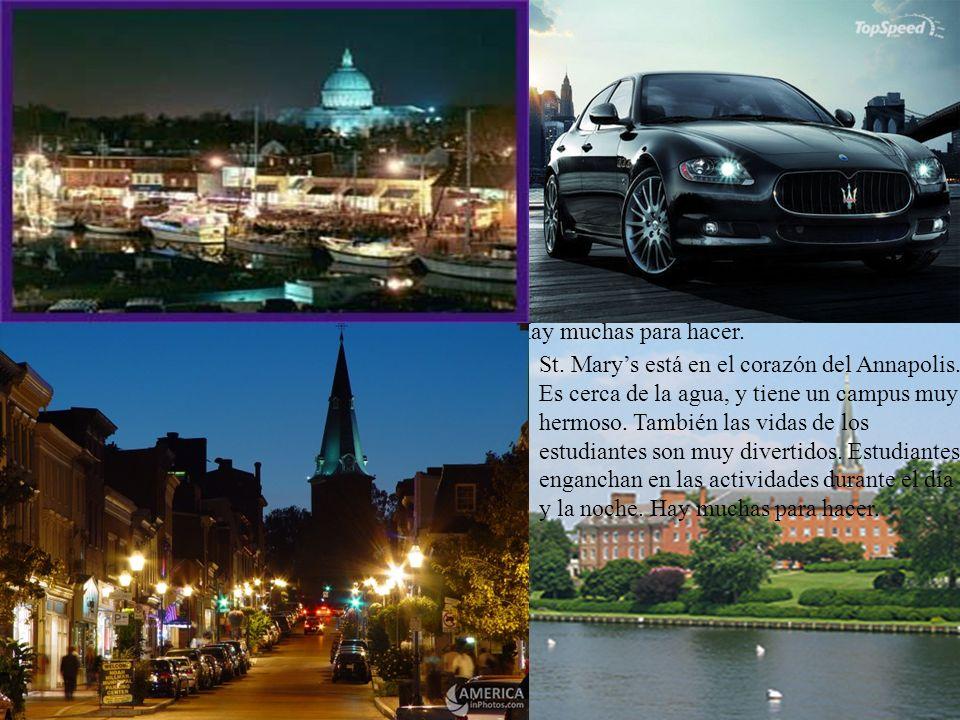 Ubicación, Ubicación… Ubicación St. Marys está en el corazón del Annapolis. Es cerca de la agua, y tiene un campus muy hermoso. También las vidas de l