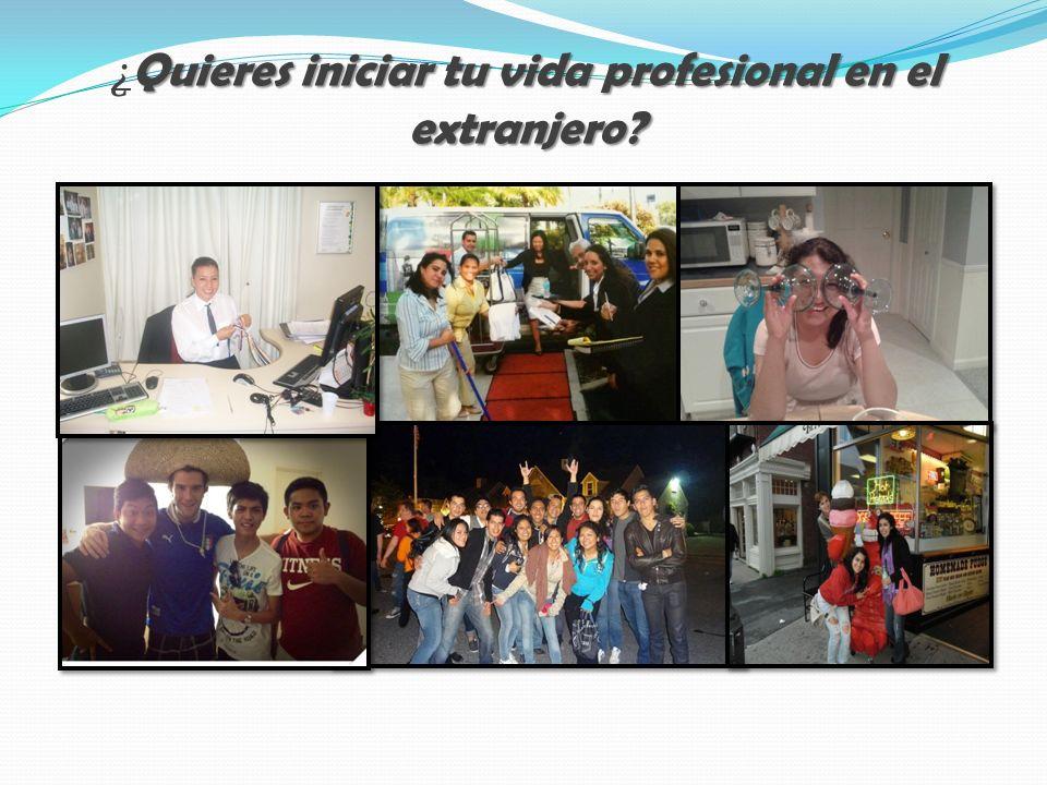 Quieres iniciar tu vida profesional en el extranjero.