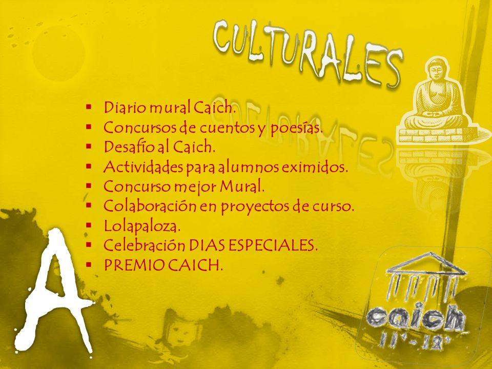 Diario mural Caich. Concursos de cuentos y poesías.