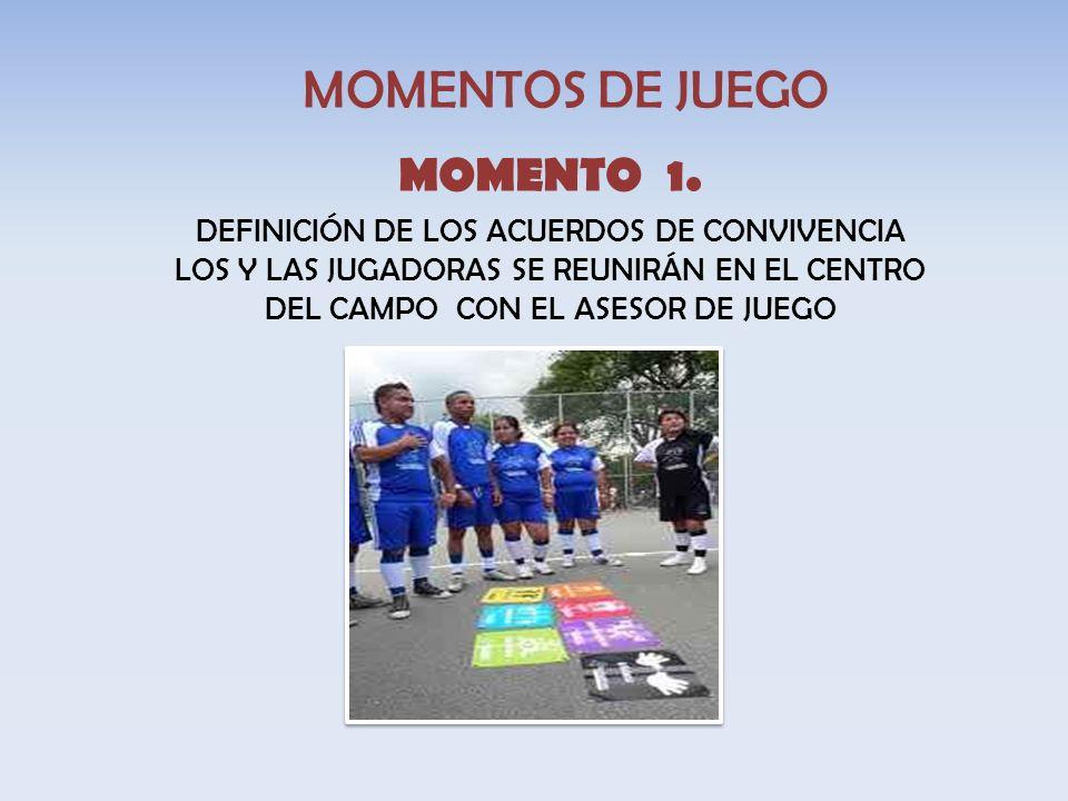 MOMENTOS DE JUEGO MOMENTO 1.