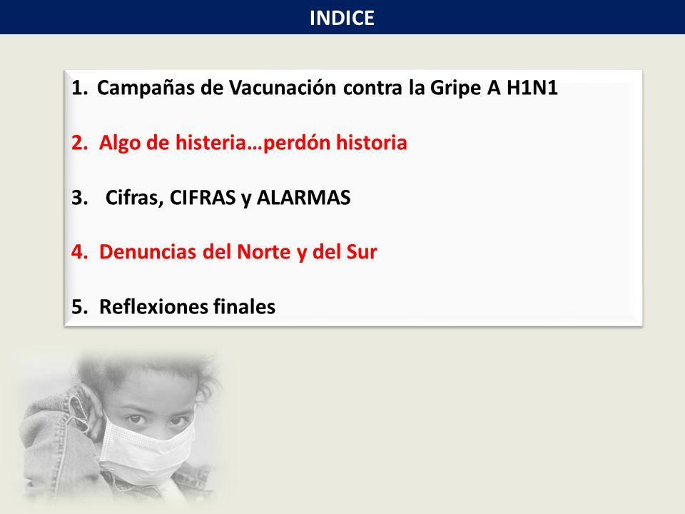 1.Campañas de Vacunación contra la Gripe A H1N1 2.