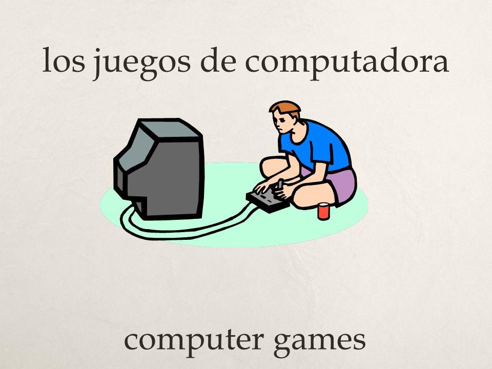 los juegos de computadora computer games