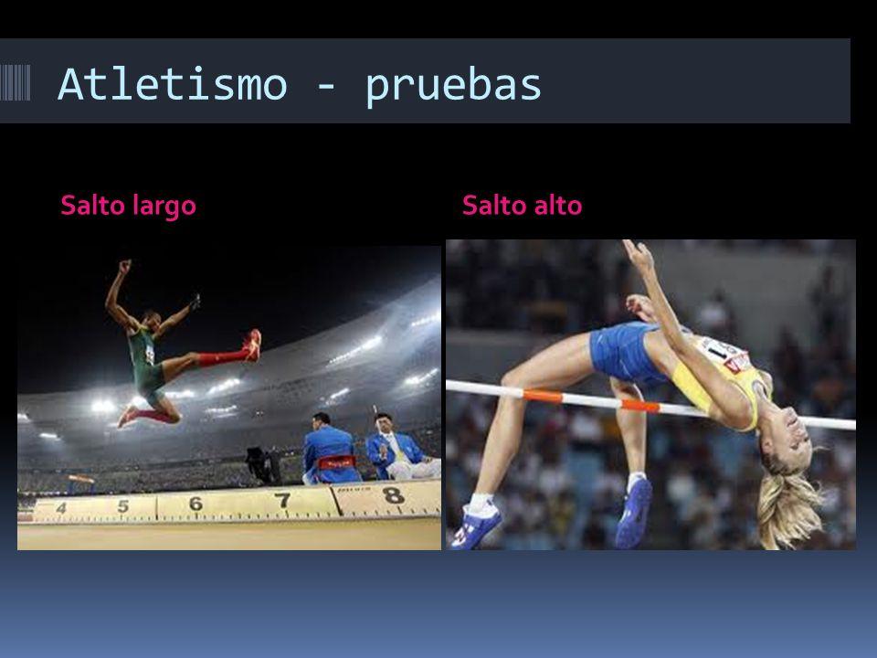 Atletismo - pruebas Salto largoSalto alto