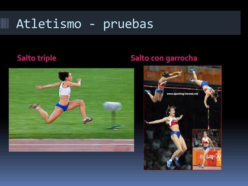 Atletismo - pruebas Salto tripleSalto con garrocha