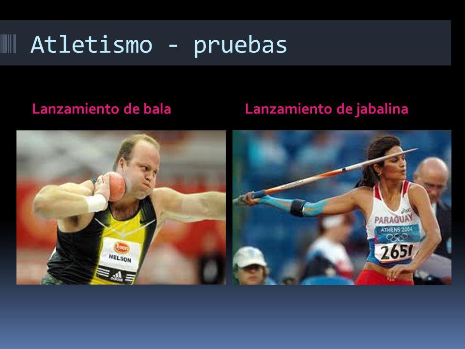 Atletismo - pruebas Lanzamiento de balaLanzamiento de jabalina