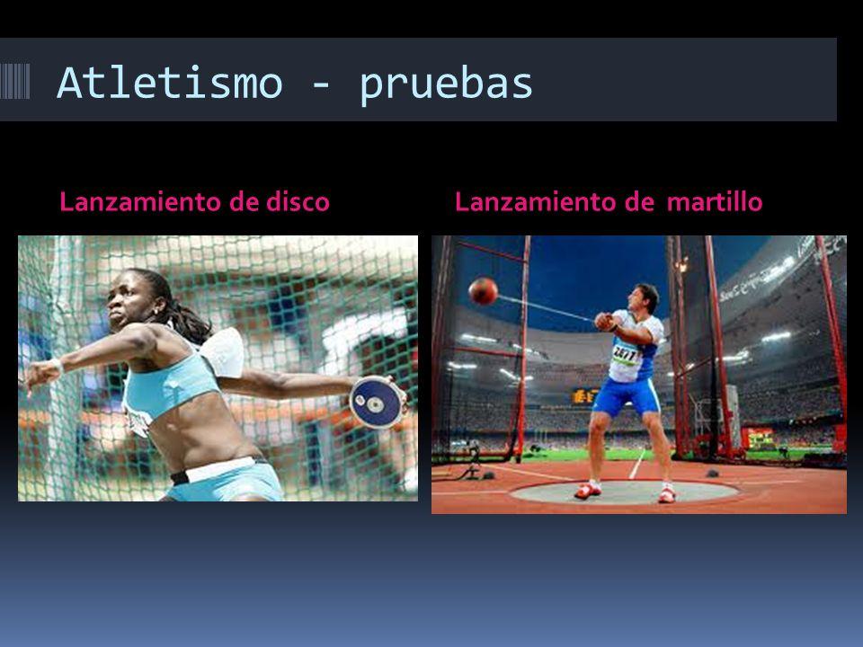 Atletismo - pruebas Lanzamiento de discoLanzamiento de martillo