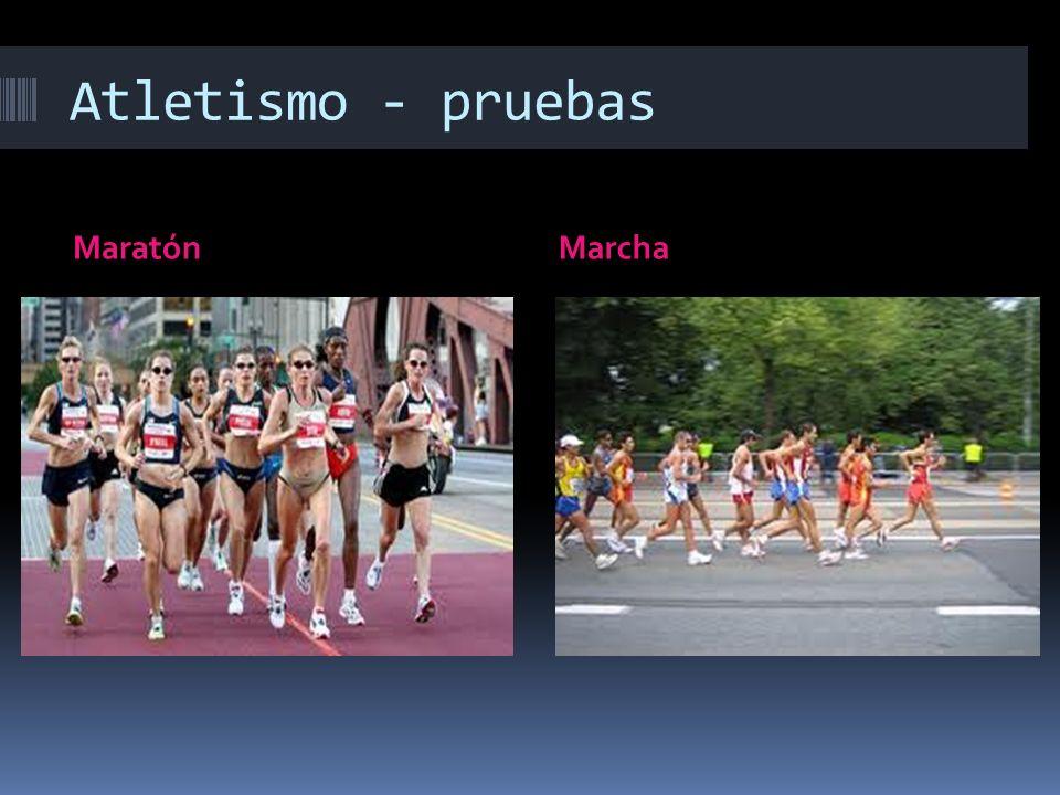 Atletismo - pruebas MaratónMarcha