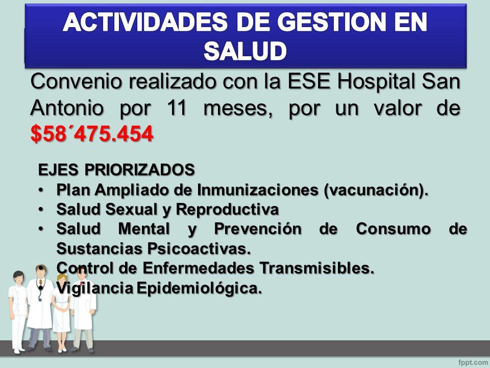 EJES PRIORIZADOS Plan Ampliado de Inmunizaciones (vacunación).Plan Ampliado de Inmunizaciones (vacunación).