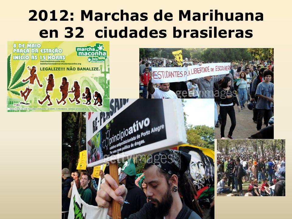 2012: Marchas de Marihuana en 32 ciudades brasileras