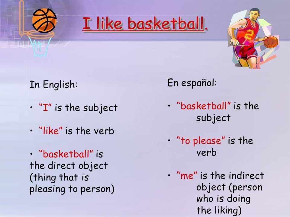 I like basketball I like basketball.