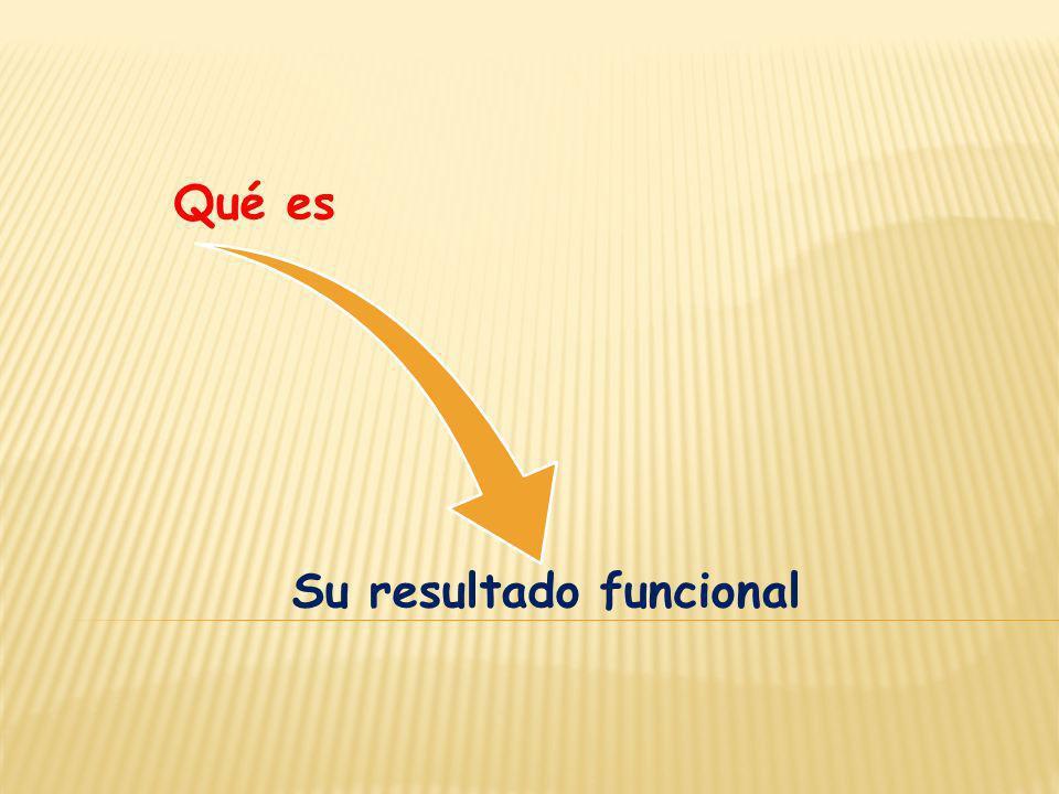 Qué es Su resultado funcional