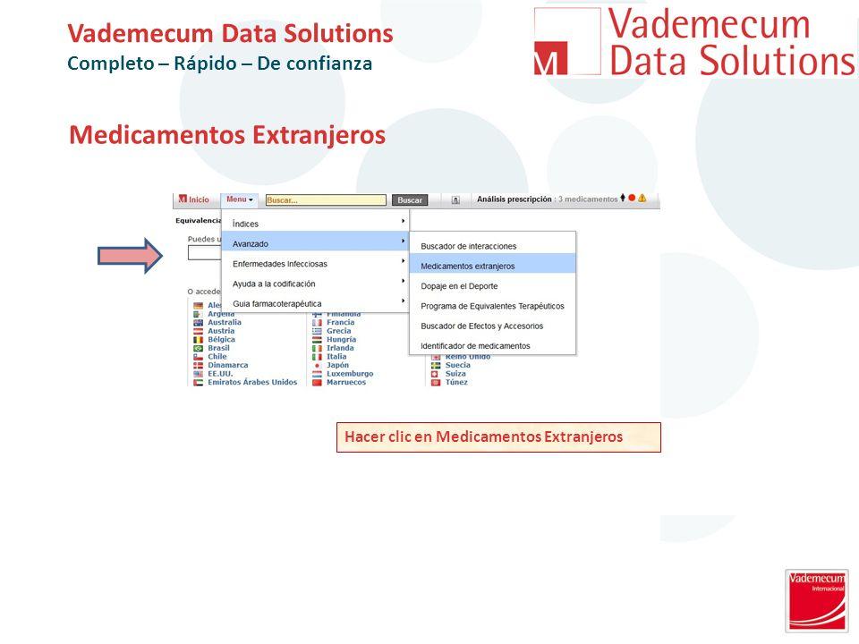 Medicamentos Extranjeros Vademecum Data Solutions Completo – Rápido – De confianza Hacer clic en Medicamentos Extranjeros