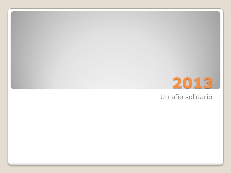 2013 Un año solidario