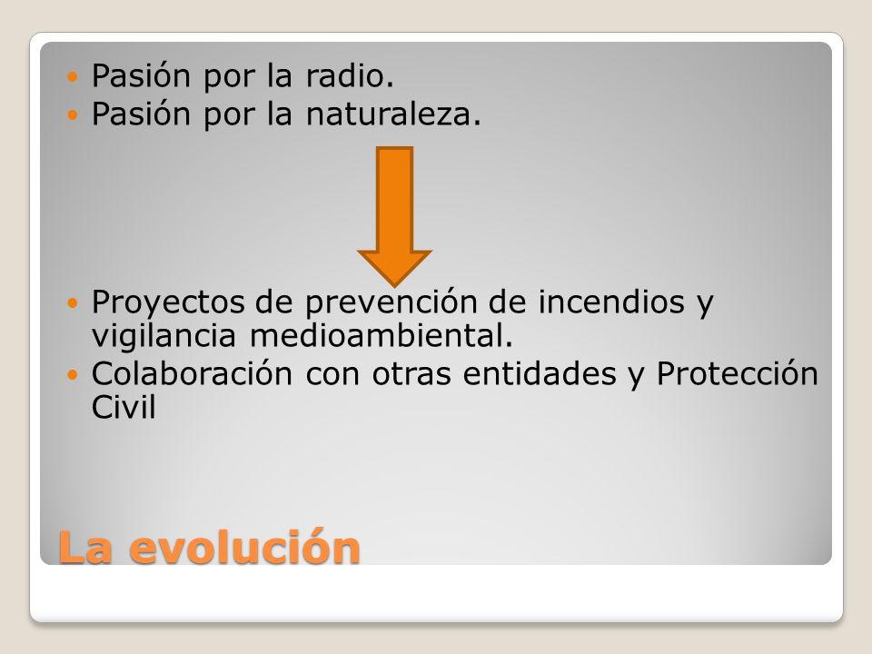 La evolución Pasión por la radio. Pasión por la naturaleza. Proyectos de prevención de incendios y vigilancia medioambiental. Colaboración con otras e