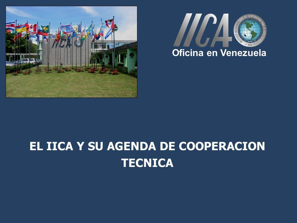 EL IICA Y SU AGENDA DE COOPERACION TECNICA Oficina en Venezuela