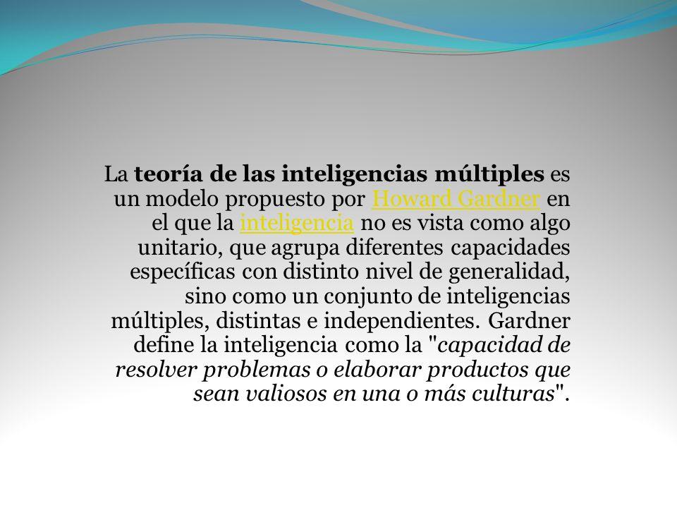 ¿Inteligencias múltiples?