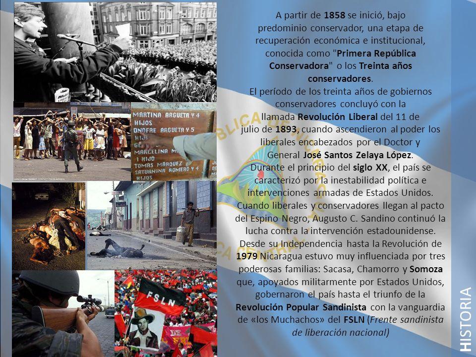H ISTORA En febrero de 1990 Violeta Barrios de Chamorro, candidata antisandinista de la Unión Nacional Opositora, ganó las elecciones e inició un programa de reconstrucción nacional que estableció la reforma monetaria, la reducción del ejército y la desmovilización de la resistencia nicaragüense.