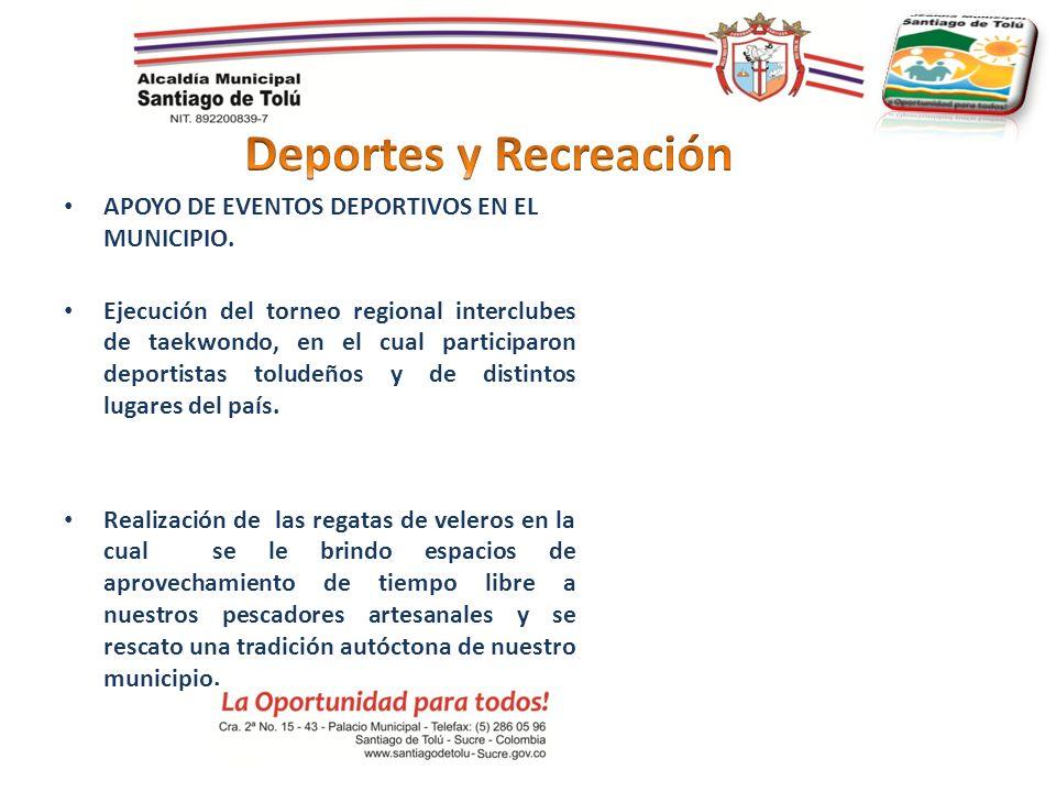APOYO DE EVENTOS DEPORTIVOS EN EL MUNICIPIO. Ejecución del torneo regional interclubes de taekwondo, en el cual participaron deportistas toludeños y d