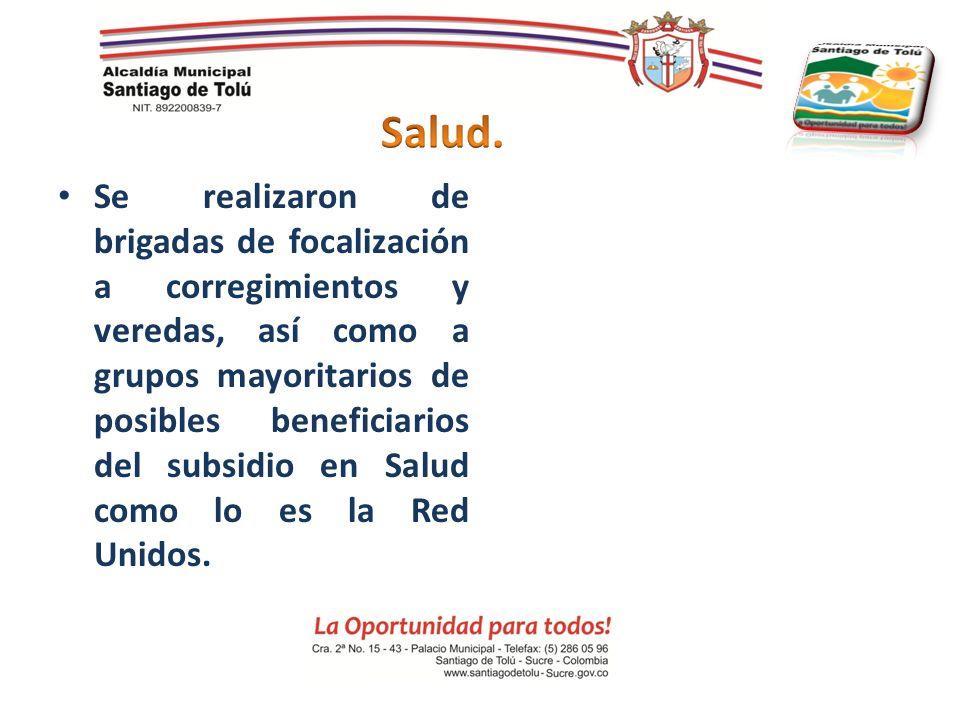 Se realizaron de brigadas de focalización a corregimientos y veredas, así como a grupos mayoritarios de posibles beneficiarios del subsidio en Salud c