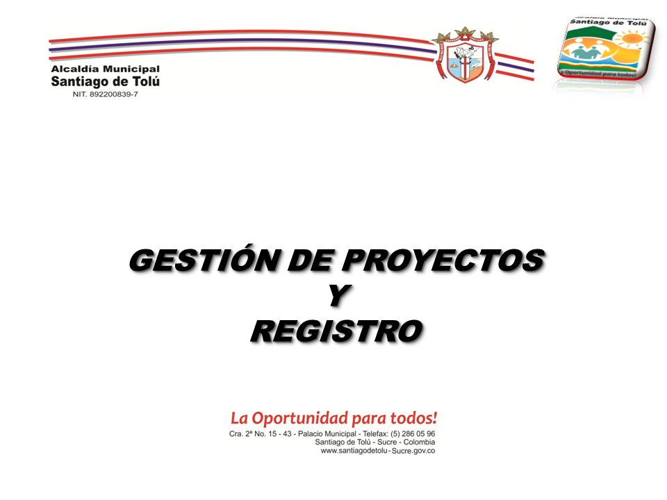 GESTIÓN DE PROYECTOS YREGISTRO YREGISTRO