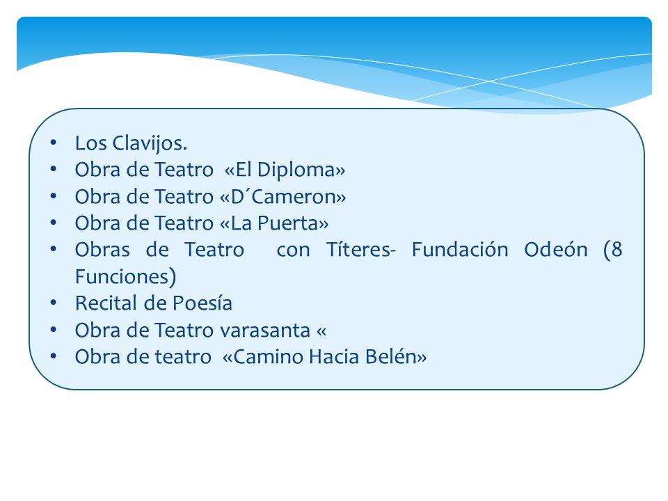 Los Clavijos. Los Clavijos. Obra de Teatro «El Diploma» Obra de Teatro «El Diploma» Obra de Teatro «D´Cameron» Obra de Teatro «D´Cameron» Obra de Teat