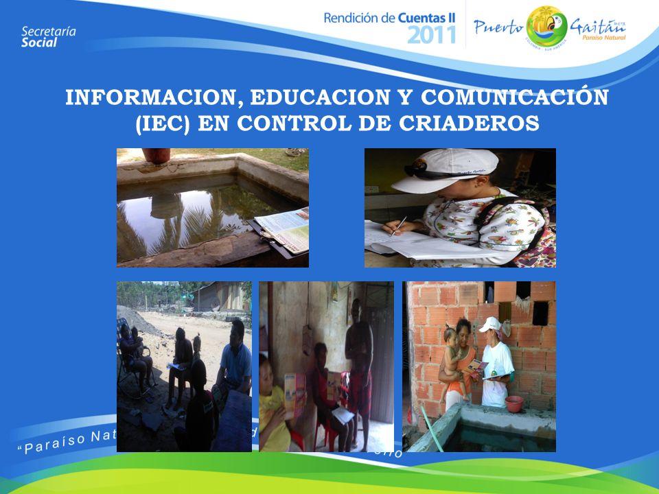 INFORMACION, EDUCACION Y COMUNICACIÓN (IEC) EN CONTROL DE CRIADEROS