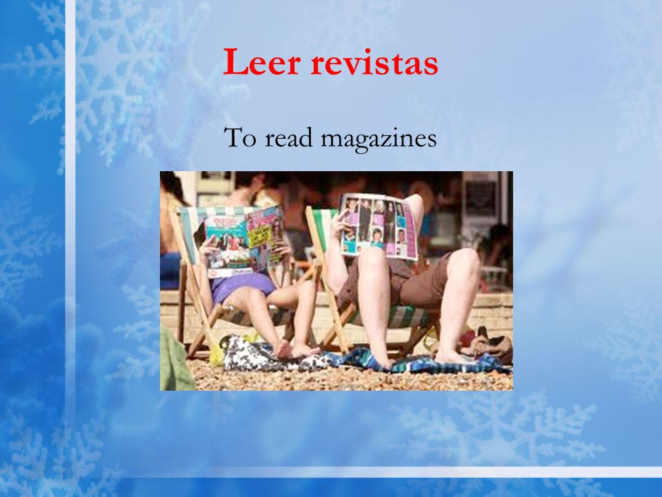 Leer revistas To read magazines