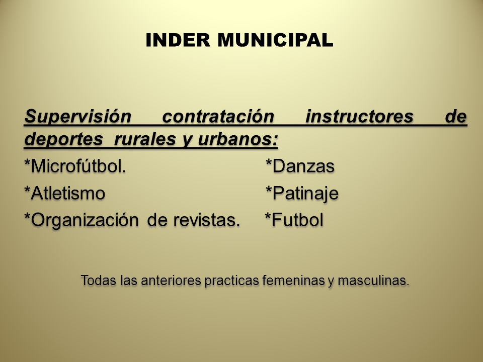 INDER MUNICIPAL *Intercolegiados juegos escolares 2009.
