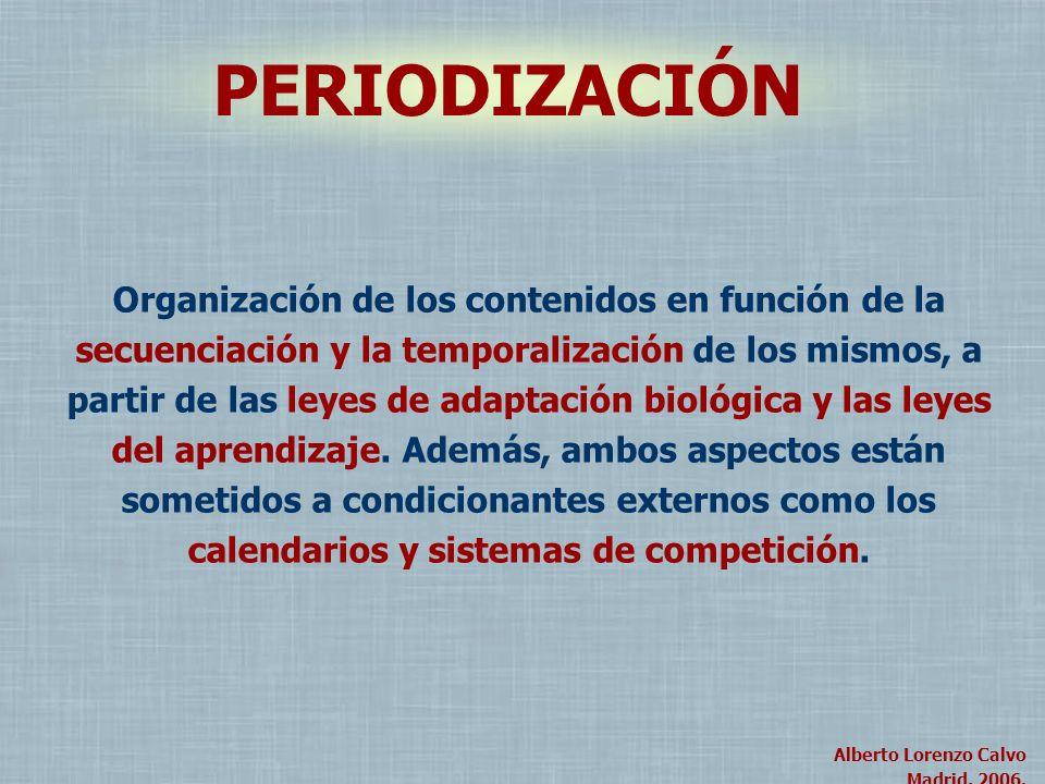 Alberto Lorenzo Calvo Madrid, 2004. Alberto Lorenzo Calvo Madrid, 2006. Organización de los contenidos en función de la secuenciación y la temporaliza