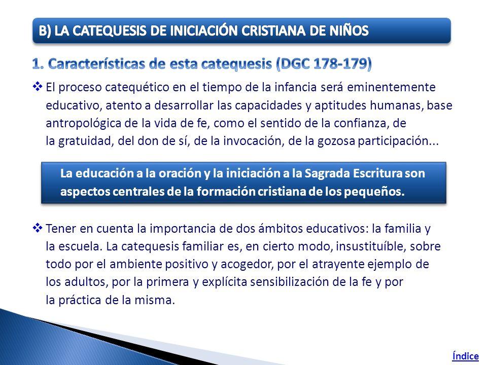 Índice La educación a la oración y la iniciación a la Sagrada Escritura son aspectos centrales de la formación cristiana de los pequeños.