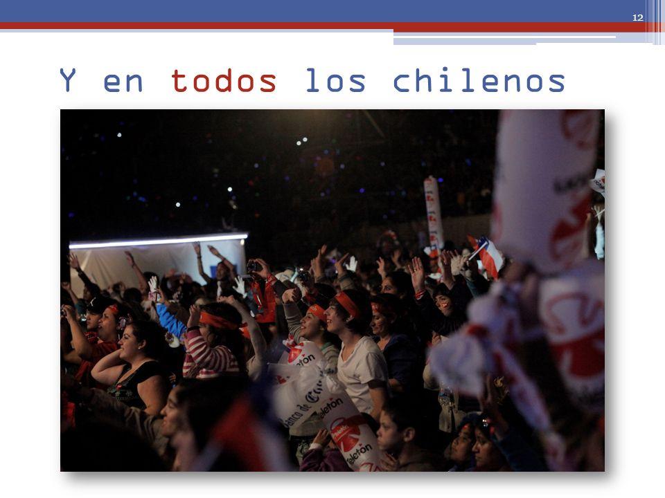 Y en todos los chilenos 12