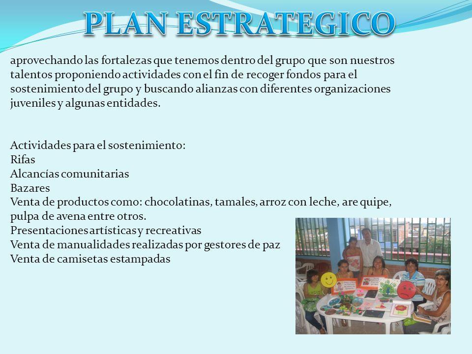 Los Gestores de Paz actualmente participan en: Escuela de liderazgo con apoyo de ACJ Implementación de la política publica de Jóvenes para el municipi